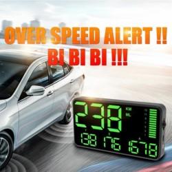 5.5 hüvelykes GPSsebességmérő sebességtúllépés riasztás HUD kijelző KM / H MPH autós motorkerékpár