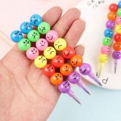7 szín kreatív ceruza cukorral bevont Haws rajzfilm Smiley Graffiti zsírkréta toll  ajándék