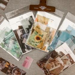 70db / csomag kreatív dekorációs matrica a Scrabook Diary Ins stílusú DIY képmatricákhoz