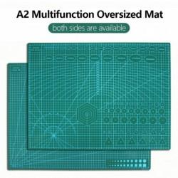 A2 nagyméretű többfunkciós szőnyeg PVC öngyógyító vágószőnyeg vágódeszka tábla papírvágó késszobrászat A2 DI