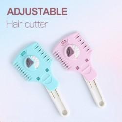 Állítsa be a hajvágó kettős hajvágású fésűs hajvágó fodrász fésű barkácsvágó borotva kalibrációs pengéjét