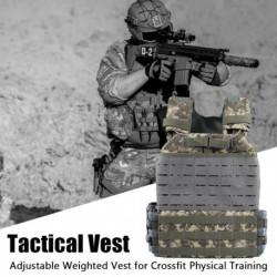 Állítható súlyozott mellény a Crossfit testedzéshez Férfi nők lélegző szabadtéri harci taktikai gyors mellény