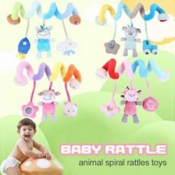 Állati spirál csörgők játék puha baba játék kiságy mobil ágy harang oktató játék újszülöttek babakocsi függő