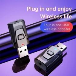 Bluetooth adapter Mini USB vezeték nélküli Bluetooth adóvevő 3,5 mmes AUX adapter adapter PC TV autóhoz