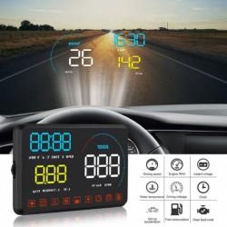 Autó HUD Headup kijelző OBD2 hibakód diagnosztikai eszköz kivetítő biztonsági riasztó vízhőmérséklet túllépés RPM