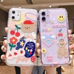 Cartoon Bear telefon tok Apple iphone 6 7 8 iphone Xr X 11 11Pro 11Pro Max puha TPU hátlap aranyos szép tok