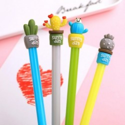 Kreatív aranyos kaktusz gél toll 0,5 mmes fekete tintával írószer ajándék iskolai irodai kellékek
