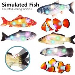 Elektronikus macskajáték 3Ds halak Elektromos USBtöltés szimulációja Haljáték macskáknak Kisállat játék