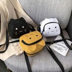 Divat női aranyos rajzfilm macska messenger táska női vászon táska melltáska válltáska
