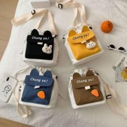 Divat női aranyos nyúl sárgarépa messenger táska női vászon táska melltáska válltáska