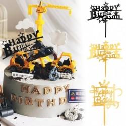 Happy Birthday - Díszes akril tortadísz szülinapra