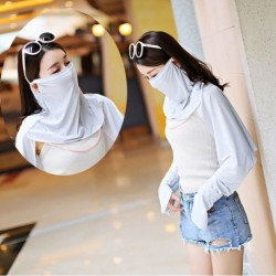 Jégselyem arcszáj orrvédő kültéri sál UV védő kendő fátyol fárasztó ruházat