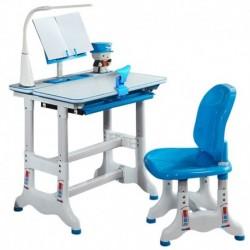 Gyerek íróasztal és szék készlet állítható kombinált dolgozóasztal és szék szett diák íróasztal fiókkal