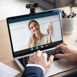 Élő streaming USB HD 1080p számítógép fényképezőgép objektív porvédővel