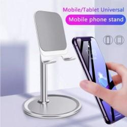 Mobiltelefon tartó asztali állvány tartó alumínium hordozható univerzális stabil tartó iPhone Samsung Huawei Xiaomi