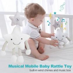 Zenés mobil baba csörgő játék rajzfilm fehér csillag ágy harang csecsemő babakocsik szél harangjáték újszülött