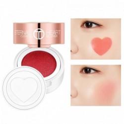 O.TWO.O légpárnás arcpirosító összecsukható szív alakú természetes meztelen smink nedvesítő arcpirosító rouge