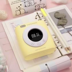 PAPERANG P2s Mini hordozható Bluetooth nyomtató fotónyomtató HD hőcímkés gép ébresztőóra menetrenddel