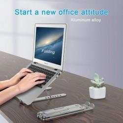 Hordozható laptop állvány alumínium összecsukható notebook sal állítható laptop tartó MacBook Pro Air