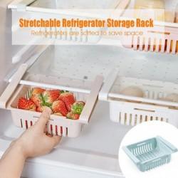 Hordozható, nyújtható hűtőszekrény szervezzen állványos konyhai állítható multifunkciós húzó tároló kosarat