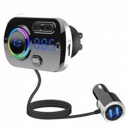 QC3.0 gyors töltő FM adómodul autós készlet kihangosító vezeték nélküli Bluetooth MP3 lejátszó kettős USB Bluetooth