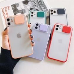 Csúsztatható kamera lencsevédő telefon tok iPhone 11 11 Pro Max átlátszó puha hátlaphéjhoz