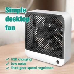Nyári USB Cool Fan Office otthoni hordozható asztali asztali ventilátor 2 sebességes csendes ventilátor