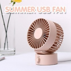 Nyári USB hordozható mini ventilátor dupla lapos hordozható 2 sebességes csendes ventilátorok Office otthoni asztali