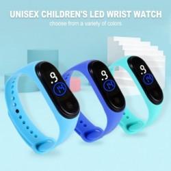 Unisex gyermek LED karóra divatos diák elektronikus sportóra Touch 50 méteres vízálló karkötő fiú lány gyerek ruha