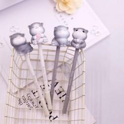Vinyl Craft aranyos macska gél toll tollak írószerek ajándék Scrpbook toll iskolai irodai kellékek
