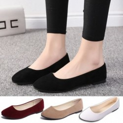 Női koreai hegyes egyetlen cipő Lady Candy színű velúr lapos alsó cipő