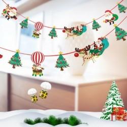 Fa - Több stílusú karácsonyi függő banner karácsonyi party Mikulás jávorszarvas zokni dekoráció 2020