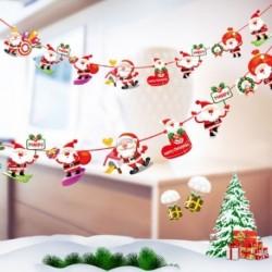 1db 2m hosszú Karácsonyi függő dekoráció - girland - Többféle Mikulás mintával