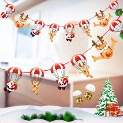 Ejtőernyő - Több stílusú karácsonyi függő banner karácsonyi party Mikulás jávorszarvas zokni dekoráció 2020