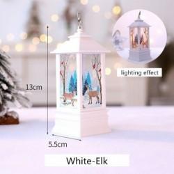 Fehér-Elk - Karácsonyi LED-es függő lámpa Mikulás jávorszarvas lángfényű lakberendezési karácsonyi lámpa