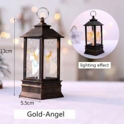 Arany-Angyal - Karácsonyi LED-es függő lámpa Mikulás jávorszarvas lángfényű lakberendezési karácsonyi lámpa