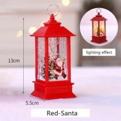 Vörös-Mikulás - Karácsonyi LED-es függő lámpa Mikulás jávorszarvas lángfényű lakberendezési karácsonyi lámpa
