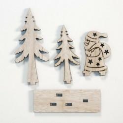 A - Karácsonyi dísz fa természetes dísz karácsonyfa függő medál dekoráció DIY