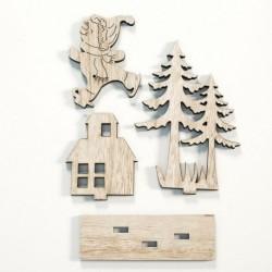 C - Karácsonyi dísz fa természetes dísz karácsonyfa függő medál dekoráció DIY