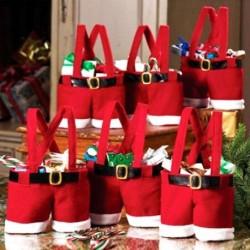 Mikulás nadrág - Mikulás nadrág manó karácsonyi cukorka táskák bor harisnya üveg ajándék táska karácsonyi