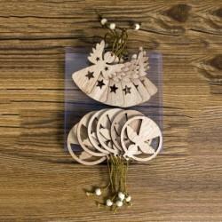 angyal - 12db fa karácsonyfa hópehely angyal medálok dísz karácsony függő dekoráció