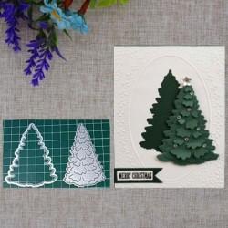 Nincs szín - A karácsonyfa fémvágása meghal DIY kézműves sablon papírkártya dekoráció Die Cuts