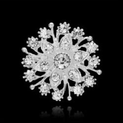 Nincs szín - Divat kristály virág bross csapok csokor karácsonyi esküvő menyasszonyi nők ajándék