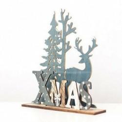 Elk Witth Levél - Elk Xmas fa fa díszek otthoni kert dekoráció karácsonyi party barkács kézműves