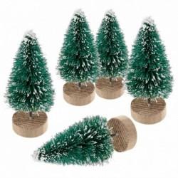 Sötétzöld-6,5 cm - 5db-os mini karácsonyfa díszek otthoni buli karácsonyi dekorációs ajándék 2019
