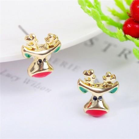 * 5 - Karácsonyfa hóember szarvas harang fül fülbevalók karácsony party ékszer ajándék