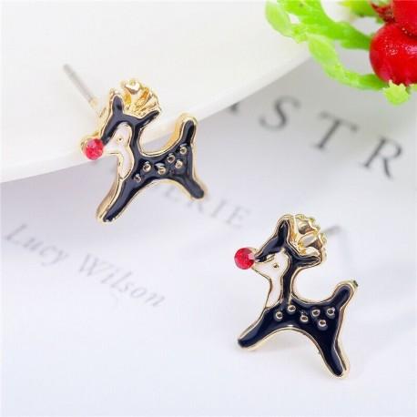 * 6 - Karácsonyfa hóember szarvas harang fül fülbevalók karácsony party ékszer ajándék