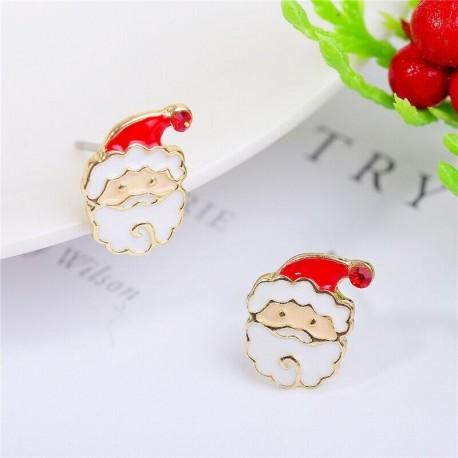 * 8 - Karácsonyfa hóember szarvas harang fül fülbevalók karácsony party ékszer ajándék