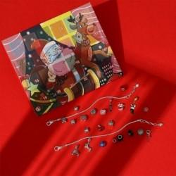 Nincs szín - Karácsonyi visszaszámlálás Adventi naptár ékszerek díszdobozban DIY karkötő medál készlet