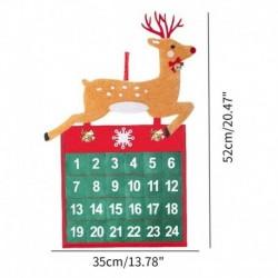 Szarvas - Karácsonyi adventi naptárfa függő karácsonyi zseb visszaszámláló kijelző dekoráció